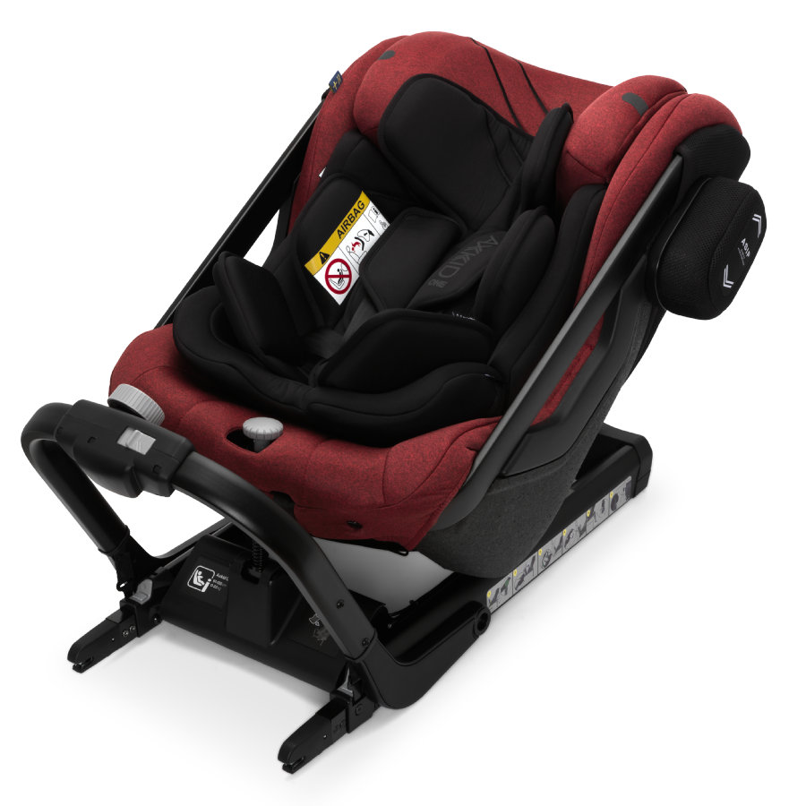 AXKID Kindersitz One+Tile Melange Rot
