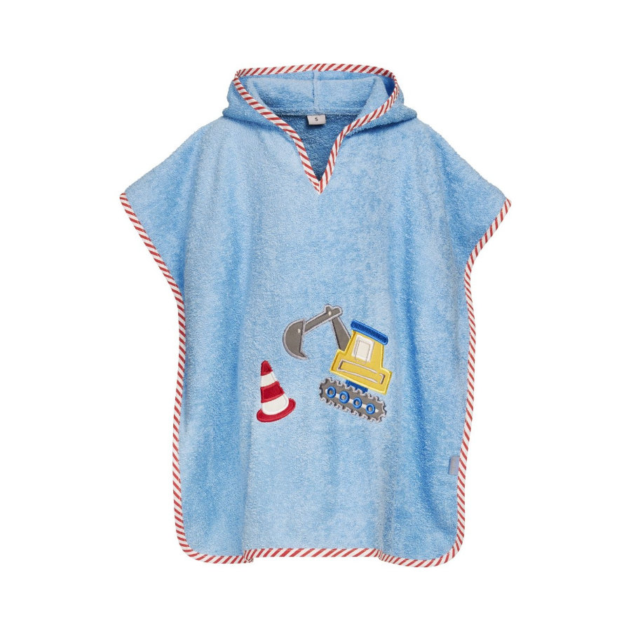Playshoes Frottee-Poncho Bagger blau