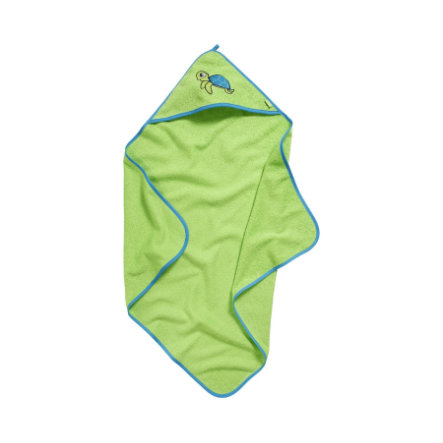 Playshoes Frottee-Kapuzentuch Schildkröte grün
