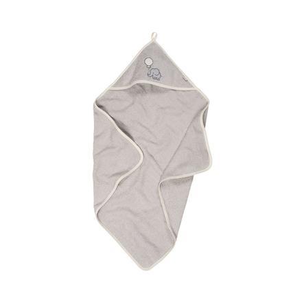 Playshoes  Badstof handdoek met kap olifant grijs