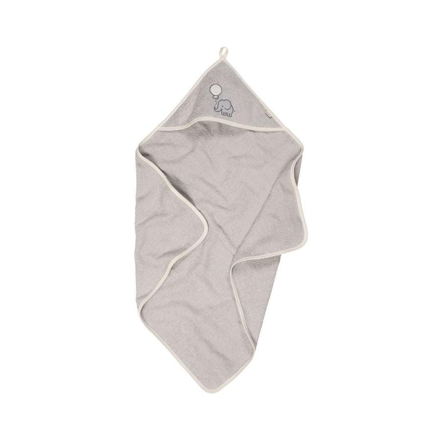 Playshoes  Ręcznik z kapturem frotte słonik szary