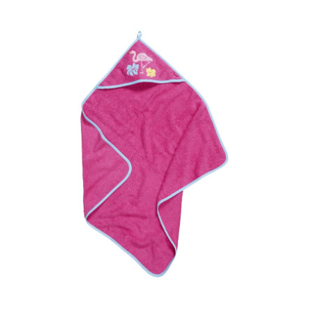 Playshoes Frottee-Kapuzentuch Flamingo pink