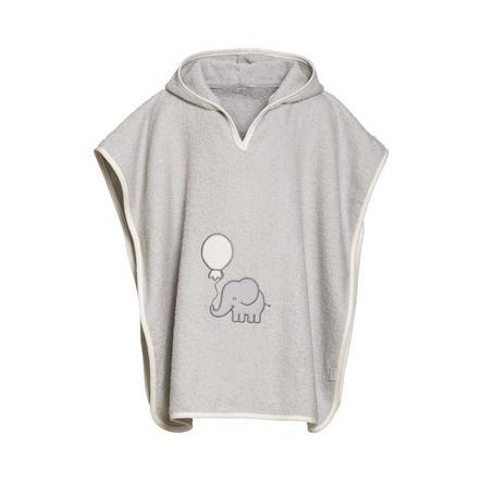 Playshoes Frottee-Poncho Elefant grau