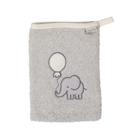 Playshoes  Gant de lavage en éponge gris éléphant