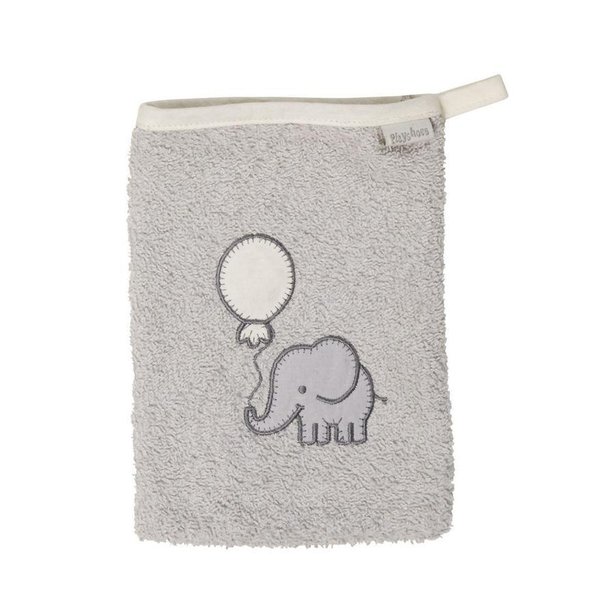 Playshoes  Badstof washandje olifant grijs