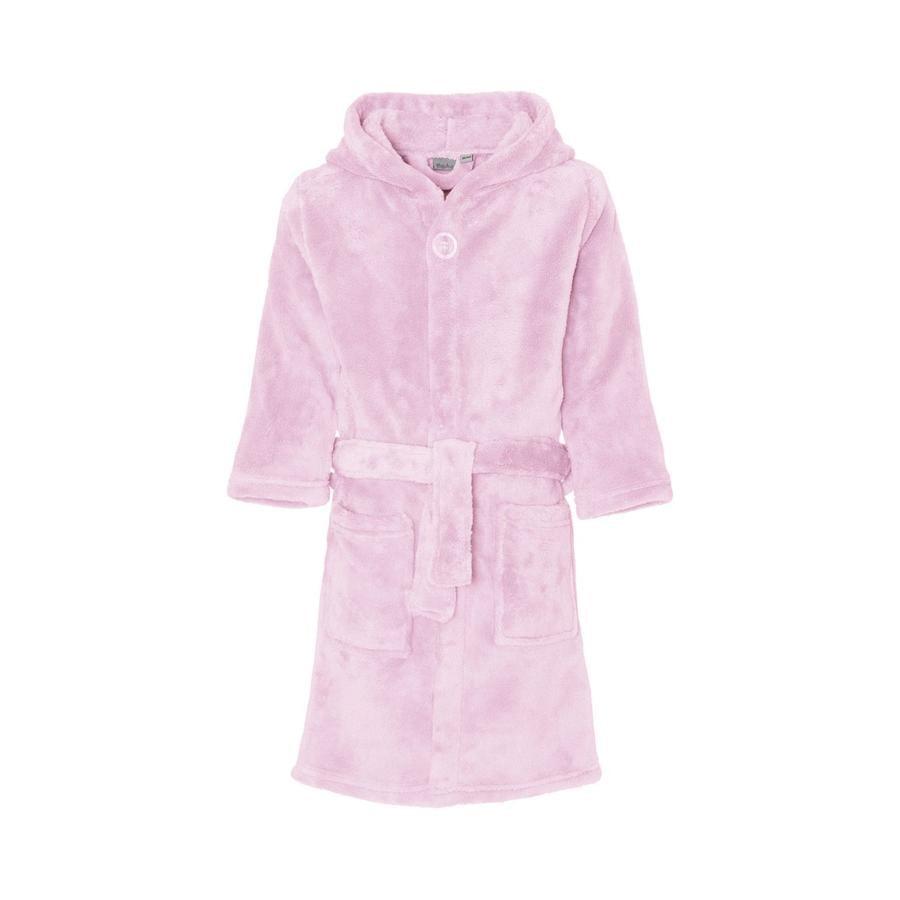 Playshoes Fleece-badekåpe uni rosa