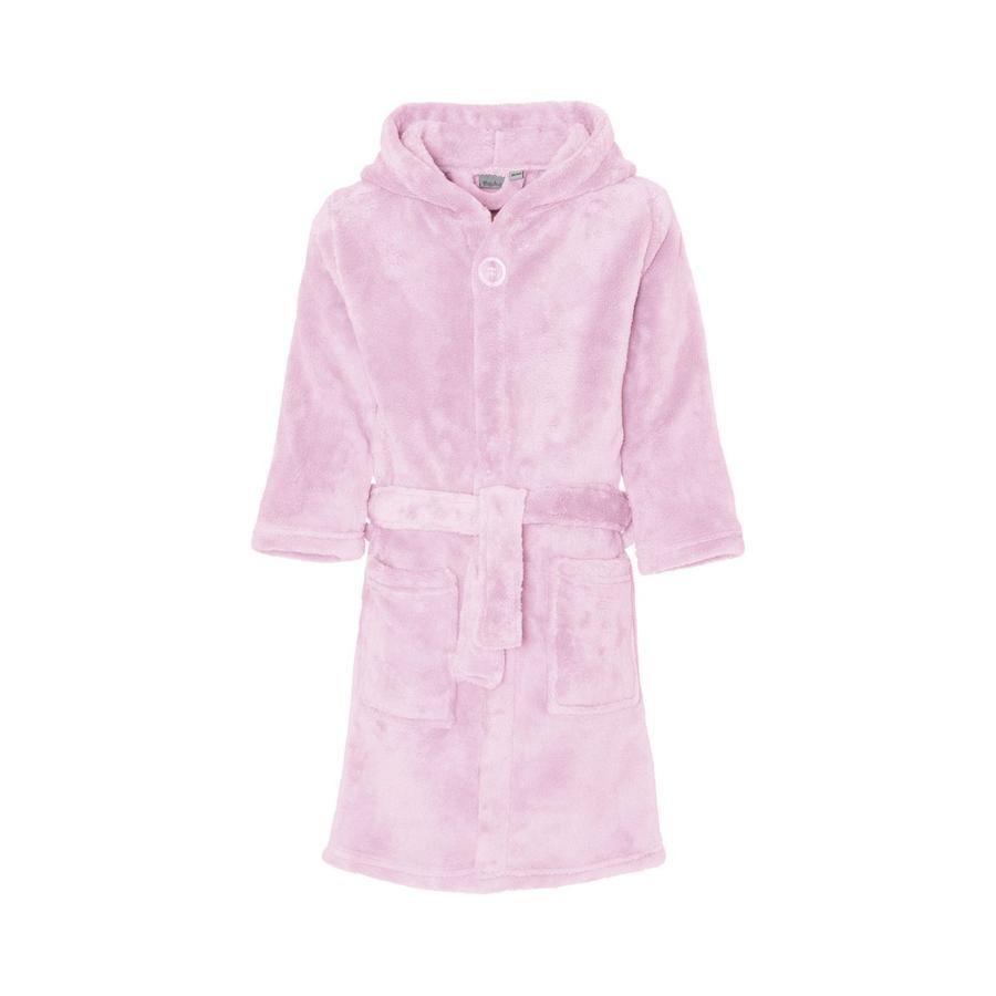 Playshoes Fleece-Bademantel uni rosa