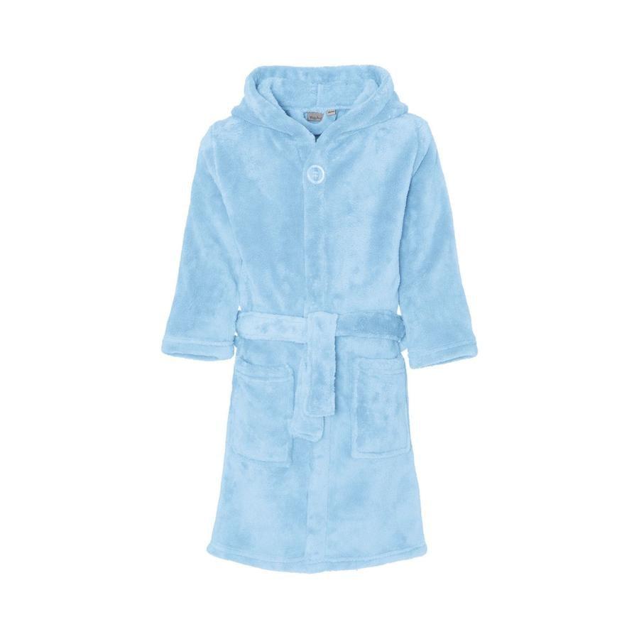 Playshoes Fleece-Bademantel uni blau