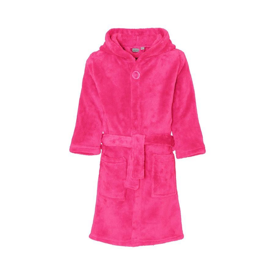 Playshoes Fleece-Bademantel uni pink