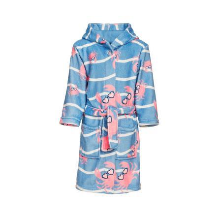 Playshoes Fleece-Bademantel Krebs blau-pink