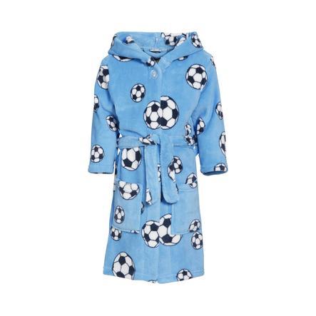 Playshoes Fleece-Bademantel Fußball blau