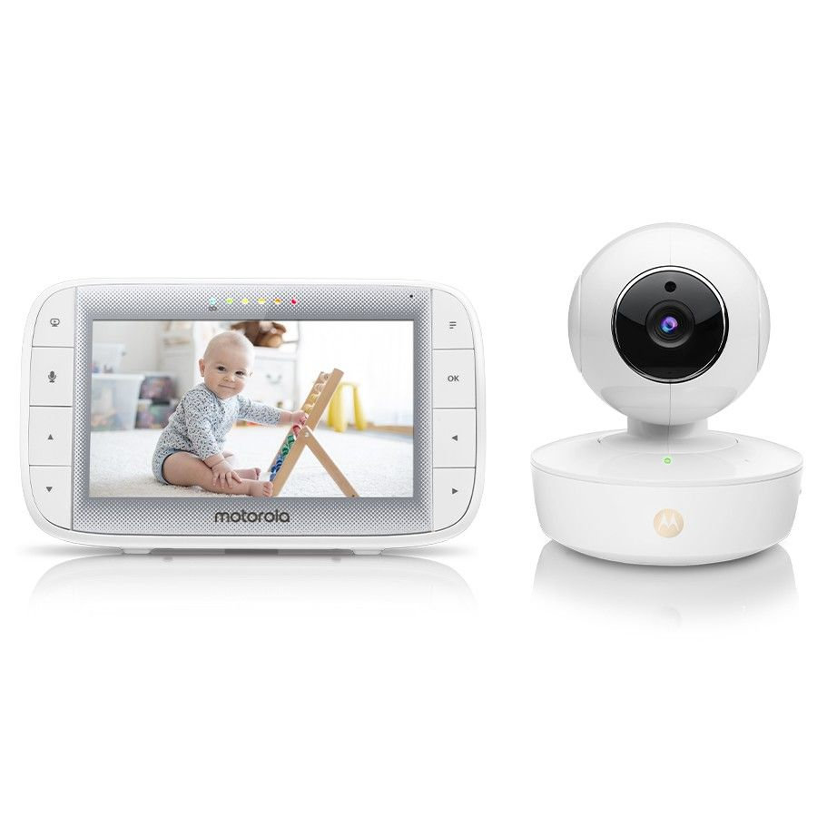 "Motorola Video Baby Monitor MBP55 met 5.0"" LCD-kleurendisplay"