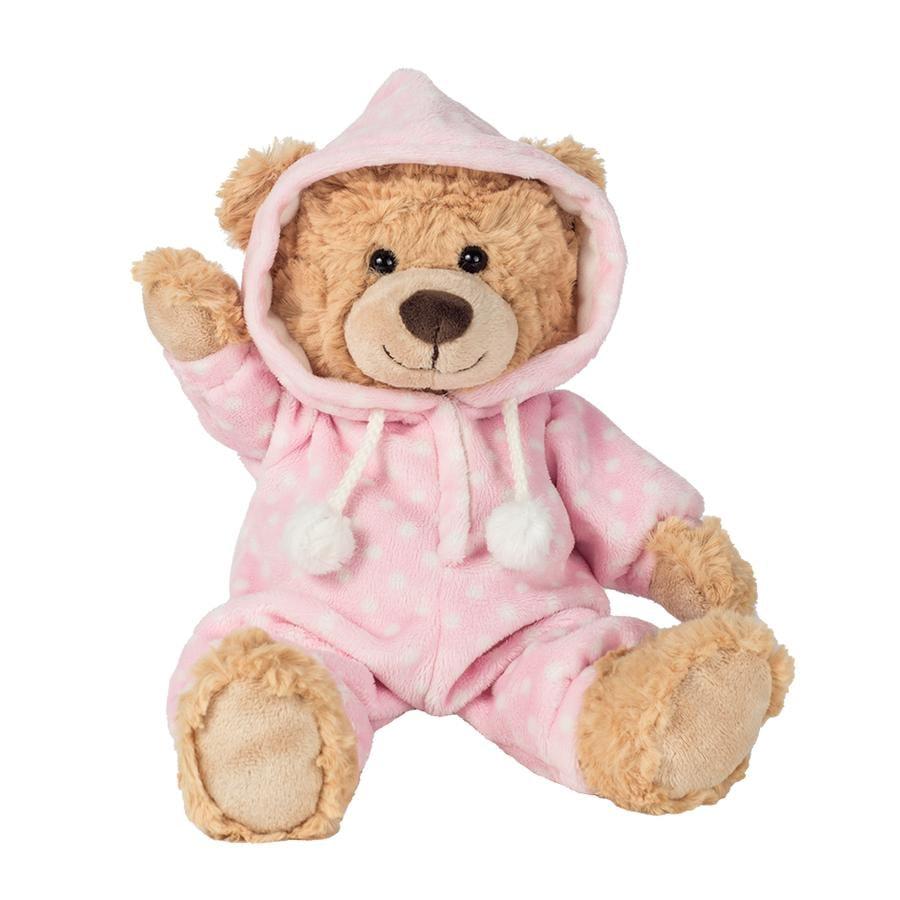 Teddy HERMANN® Schlafanzugbär rosa 30 cm