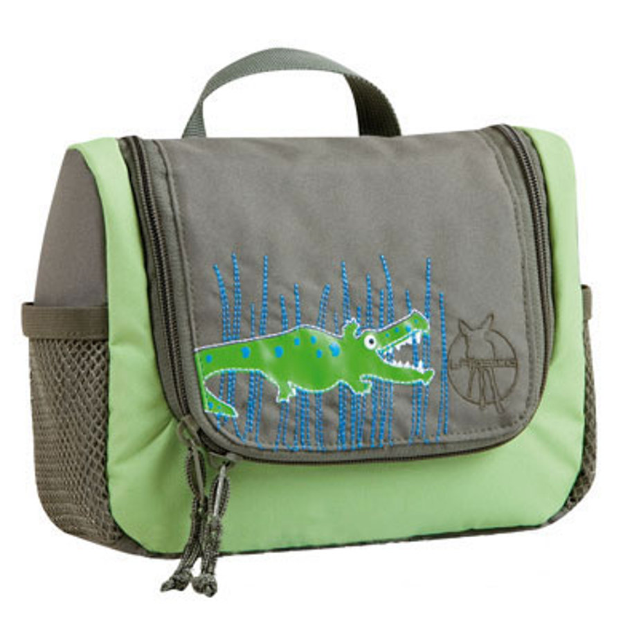 LÄSSIG Mini Wash Bag Toiletries Bag Crocodile