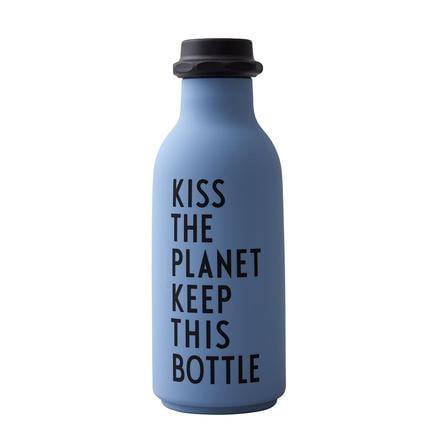 Design Letters Water Bottle To Go i blåt
