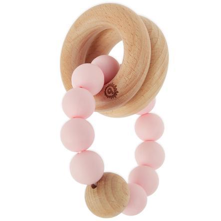 bieco bitering med silikon kjede rosa