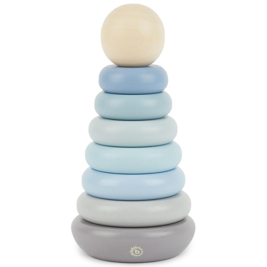 bieco Stapelturm blau-grau