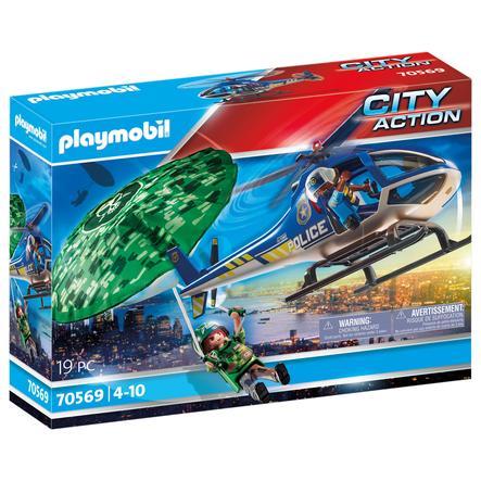 PLAYMOBIL ® Poliisin helikopteri laskuvarjo