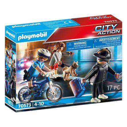PLAYMOBIL® Skattejeger for terrengkjøretøy fra politiet PLAYMOBIL® Politi sykkellomme