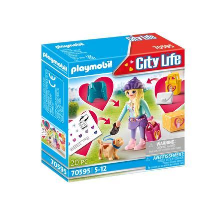 PLAYMOBIL ® modeflicka med hund