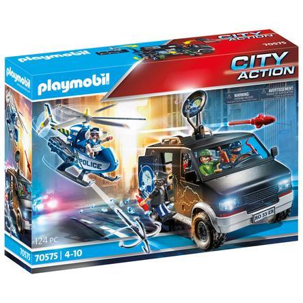 PLAYMOBIL  ® Helicóptero de la policía vehículo de escape