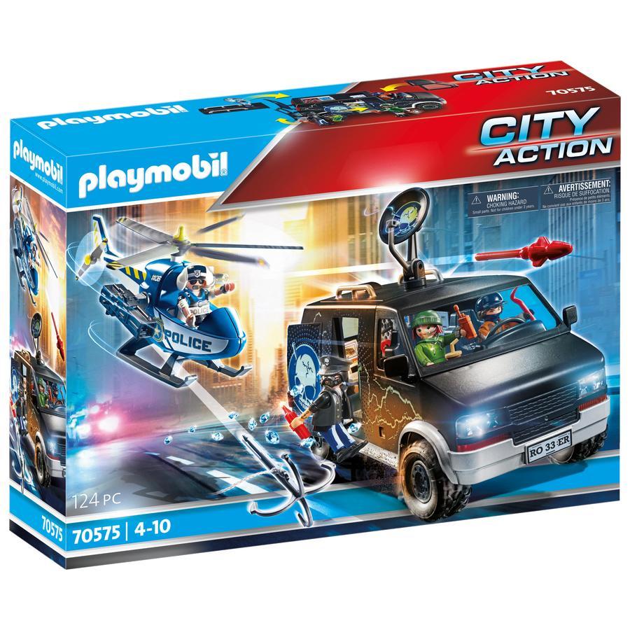 PLAYMOBIL® Policyjny helikopter: Pościg za uciekającym samochodem 70575
