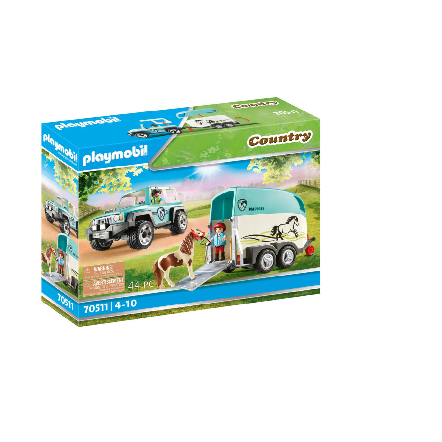 PLAYMOBIL ® Country Car with pony trailer 70511 PLAYMOBIL ® Car with pony traile