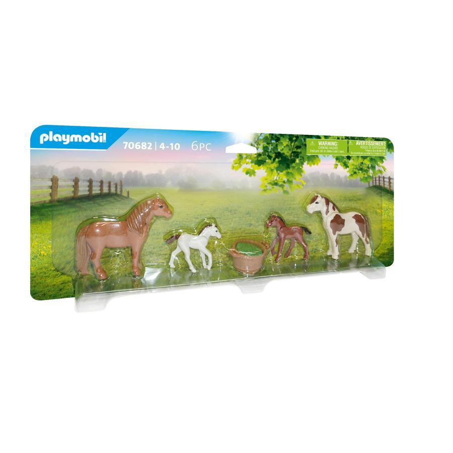 PLAYMOBIL® ponnier med føll 70682