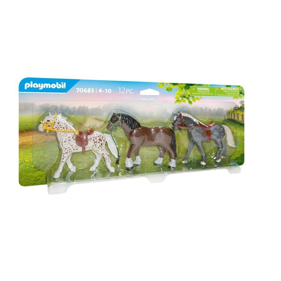 PLAYMOBIL® 3 Pferde