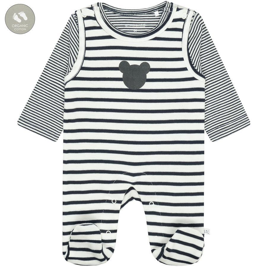 STACCATO bukse + skjorte off white striped