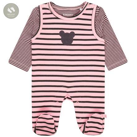 STACCATO bukse + skjorte rosa stripete
