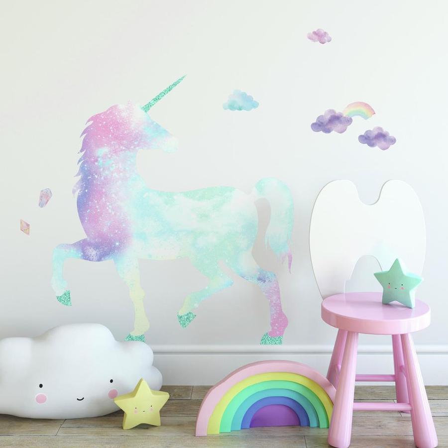 RoomMates ® Wall Sticker Galactic Glitter Unicorn