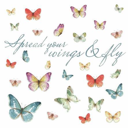 RoomMates® Wandsticker Schmetterlinge, Lisa Audit
