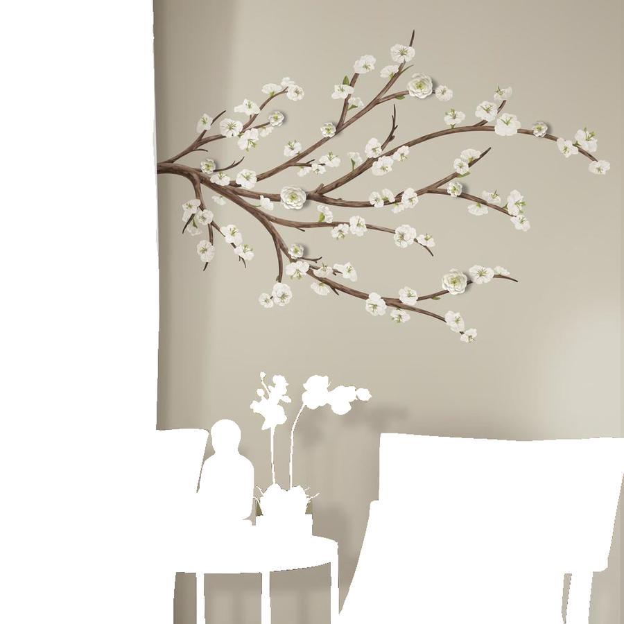 RoomMates ® Naklejka ścienna biały kwiat gałązka