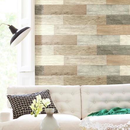 RoomMates ® Adhesivo de pared Vintage Aspecto de tarima de madera