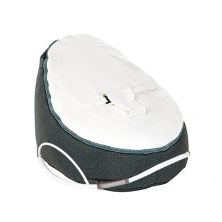 Doomoo Sedací pytel Seat Original se Swing houpacím podstavcem Home bílo-antracitový