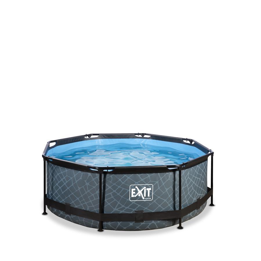 EXIT Stone Pool ø244x76cm – Grau EXIT PeakPro ø10ft Schwarz