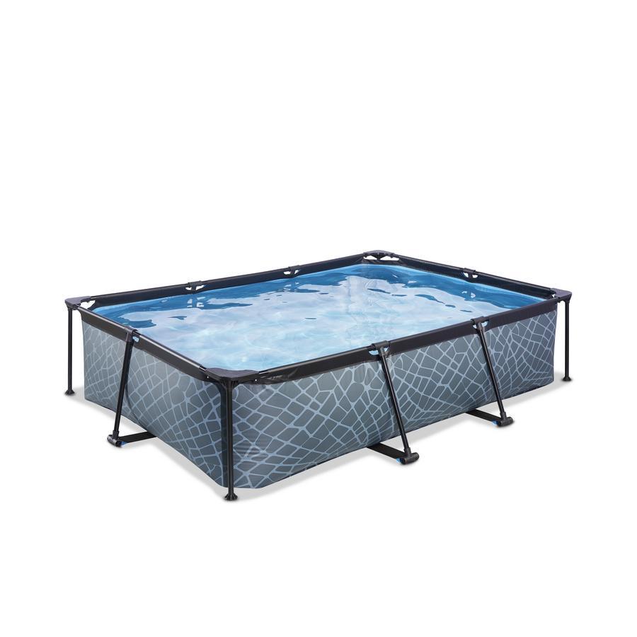 EXIT Frame Pool 300x200x65cm (12v) – Grau