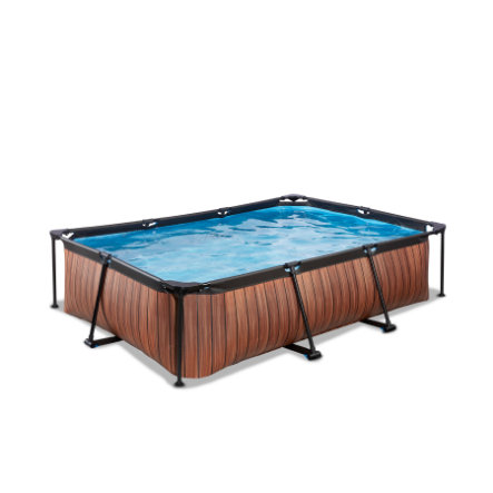 EXIT Basen Frame Pool 300x200x65cm (12v) - Wood Optics