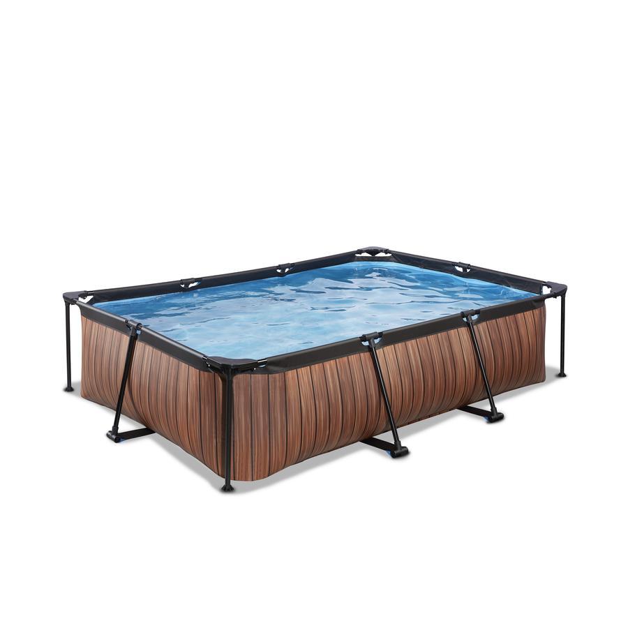 EXIT Frame Pool 300x200x65cm (12v) - Träoptik