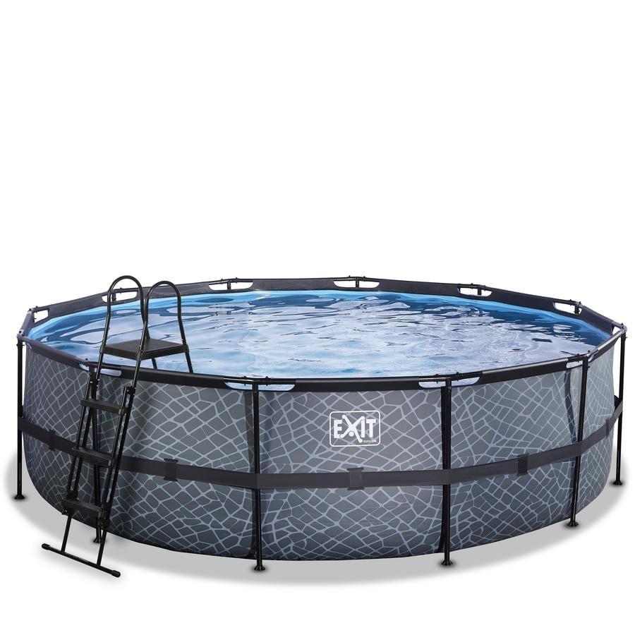 EXIT Frame Pool ø488x122cm (12v Sandfilter) – Grau