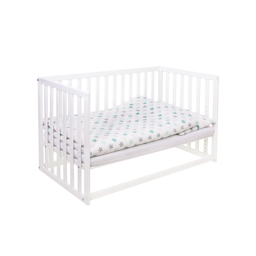 pink or blue 6in1 Beistell - und Kinderbett LEONARDO 60  x 120 cm weiß