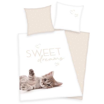 HERDING Ložní prádlo kočka - Sweet dream s 135 x 200 cm