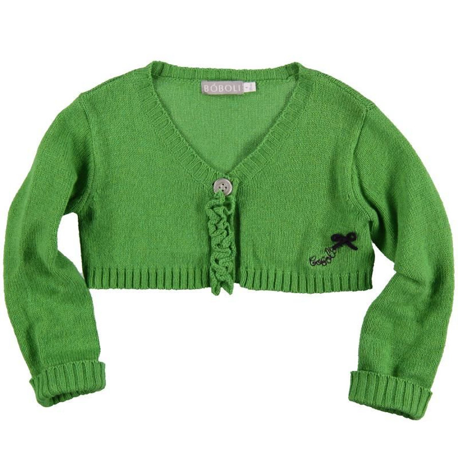 BOBOLI Girls Strickbolero grün