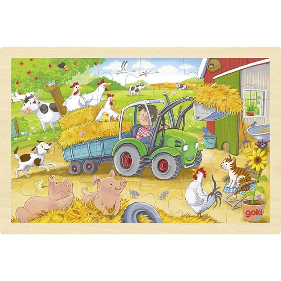 goki Insérer le puzzle petit tracteur