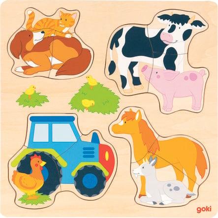 goki Insérer un puzzle d'animaux de ferme