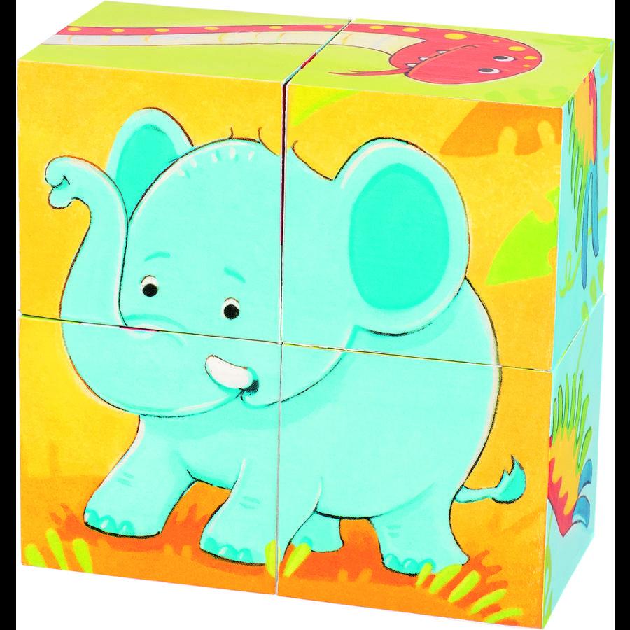 goki Cube pussel vilda djur