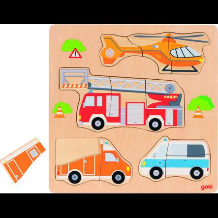 goki Insérer des véhicules de sauvetage en forme de puzzle
