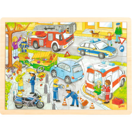 goki Einlegepuzzle Polizeieinsatz