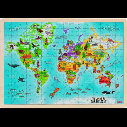goki Einlegepuzzle Welt